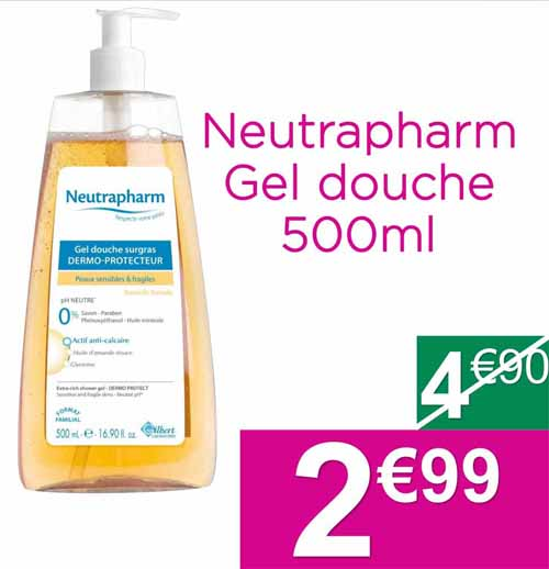 Gel douche neutrapharma hydratant - Neutrapharm gel douche surgras ...
