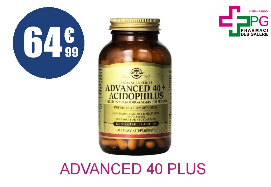 ADVANCED 40 PLUS ACIDOPHILUS Gélule Pot de 120