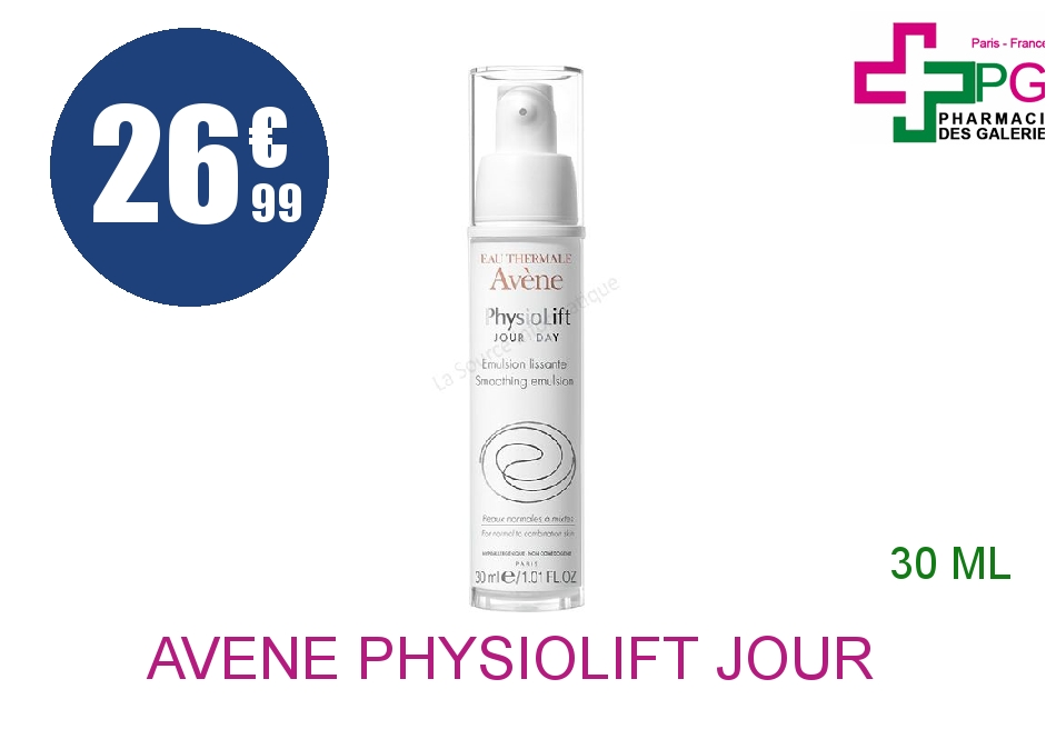 AVENE PHYSIOLIFT JOUR Emulsion lissante Flacon Airless de 30ml