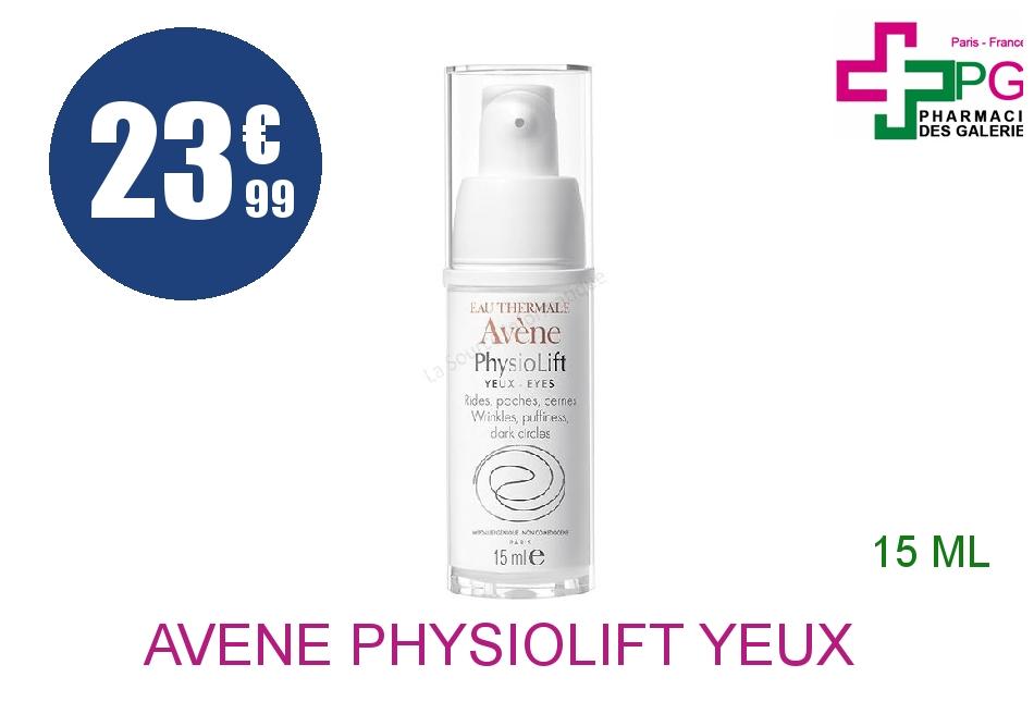 AVENE PHYSIOLIFT YEUX Crème rides Poches cernes Flacon Airless de 15ml