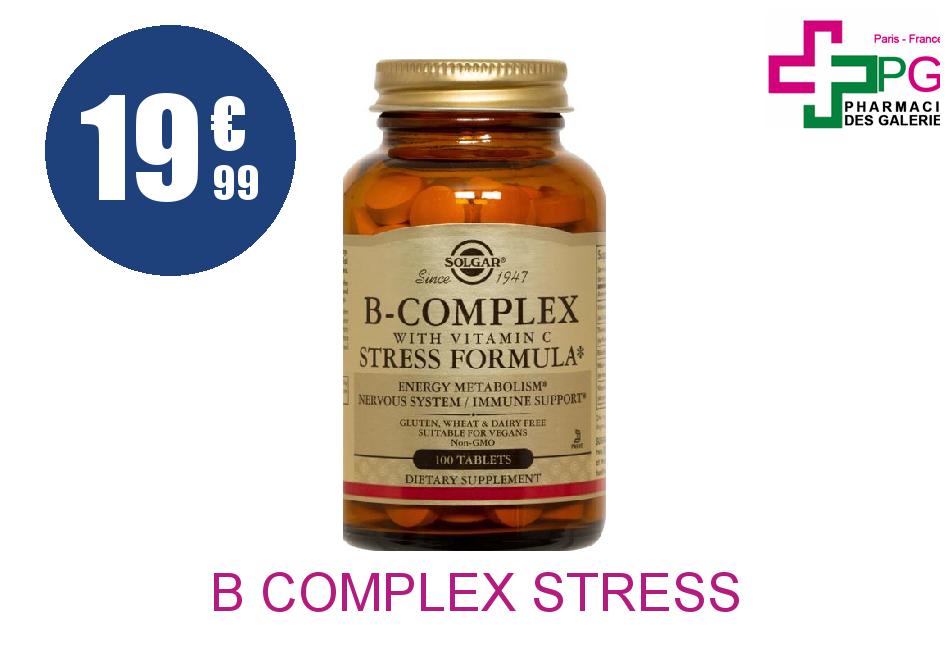 Achetez B COMPLEX STRESS FORMULA Tablette Pot de 100