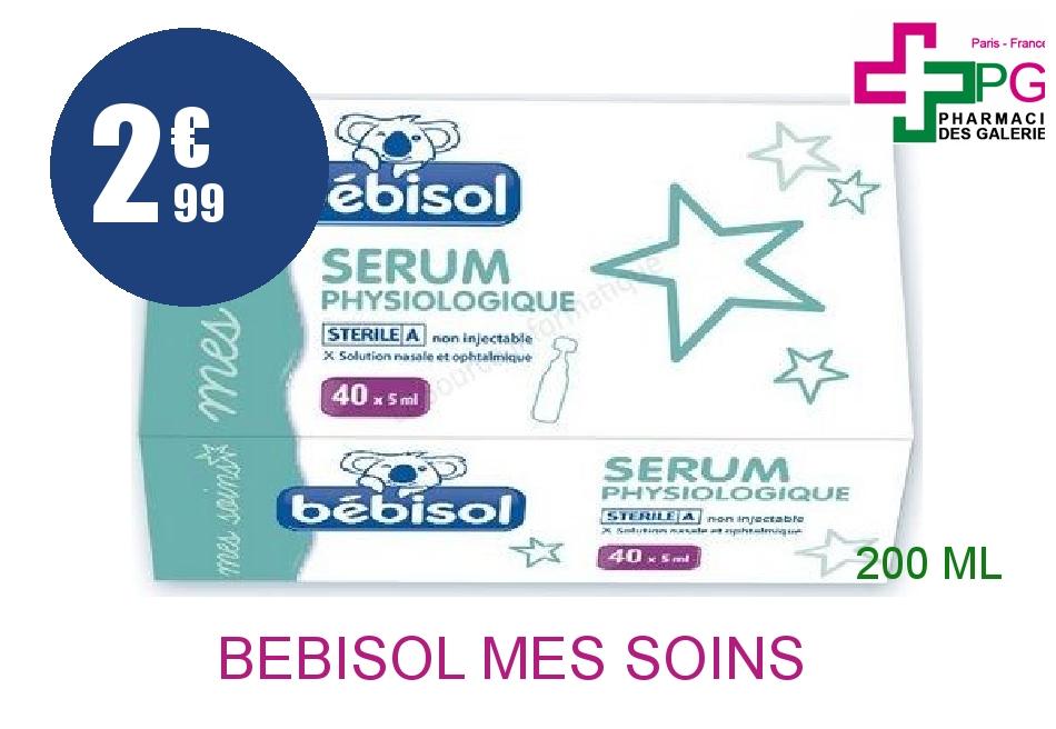 Achetez BEBISOL MES SOINS Solution Nasale sérum physiologique 40 Doses de 5ml