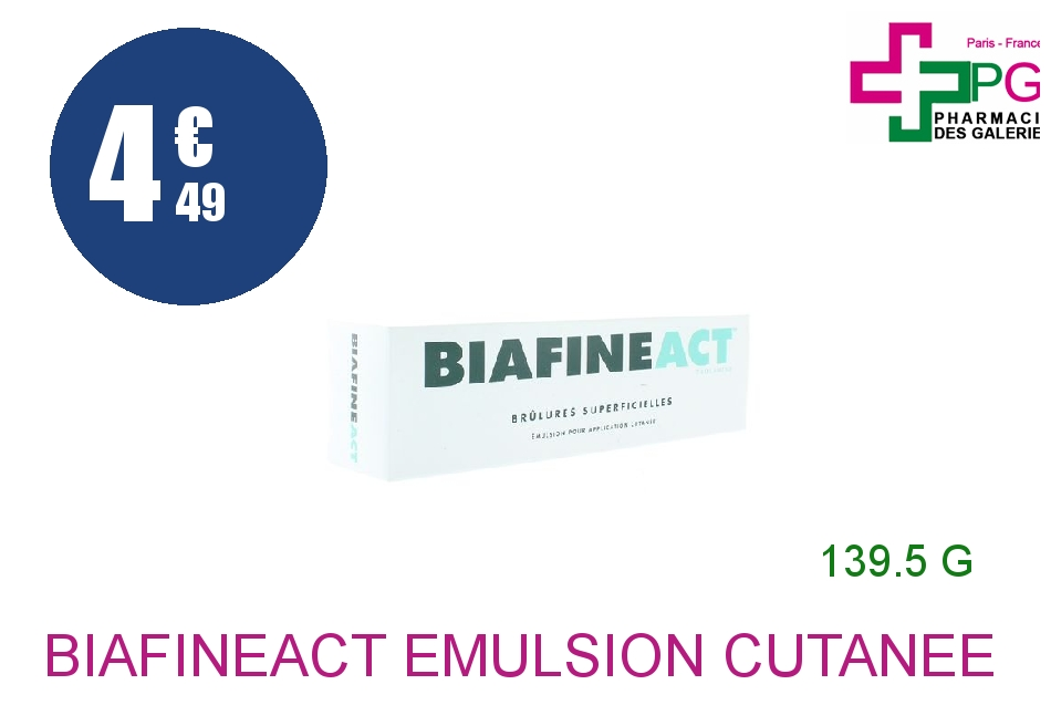 BIAFINEACT Emulsion Cutanée Tube de 139,5g