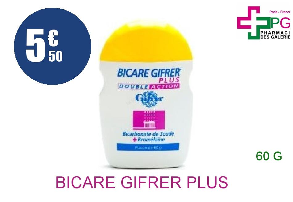 Achetez BICARE GIFRER PLUS Poudre double action hygiène dentaire Flacon Poudreur de 60g