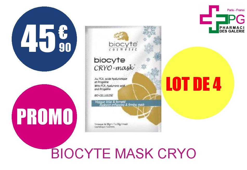 biocyte mask cryo masque clat et fermet 1 sachet lot de 4. Black Bedroom Furniture Sets. Home Design Ideas
