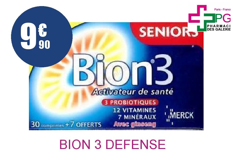 Achetez BION 3 DEFENSE SENIOR Comprimé Boîte de 30+7