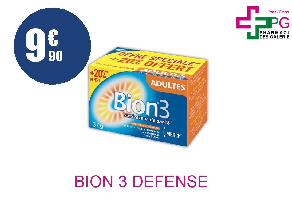 Achetez BION 3 DEFENSE ADULTE Comprimé Boîte de 30+7