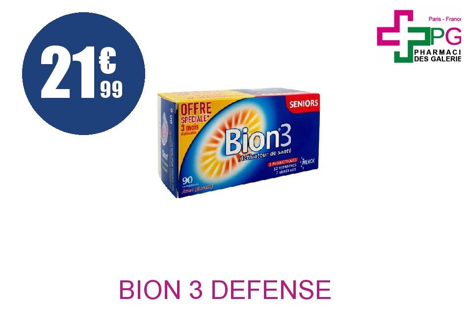 Achetez BION 3 DEFENSE SENIOR Comprimé Boîte de 90
