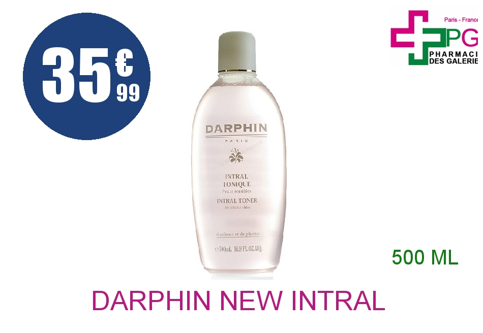 DARPHIN NEW INTRAL LOT TONIQ Flacon Pompe de 500ML