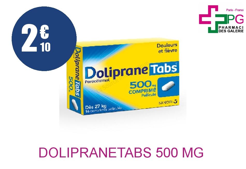 DOLIPRANETABS 500 mg Comprimé Pelliculé Sécable Plaquette