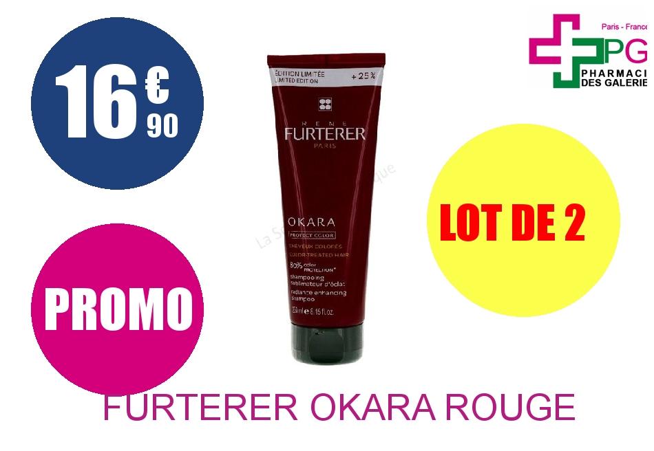FURTERER OKARA ROUGE SUBLIM SHP 250 ML Lot de 2