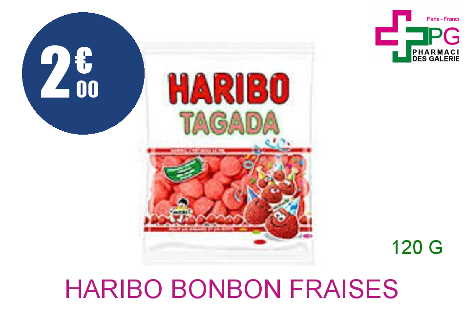 HARIBO Bonbon fraises tagada Sachet de 120g