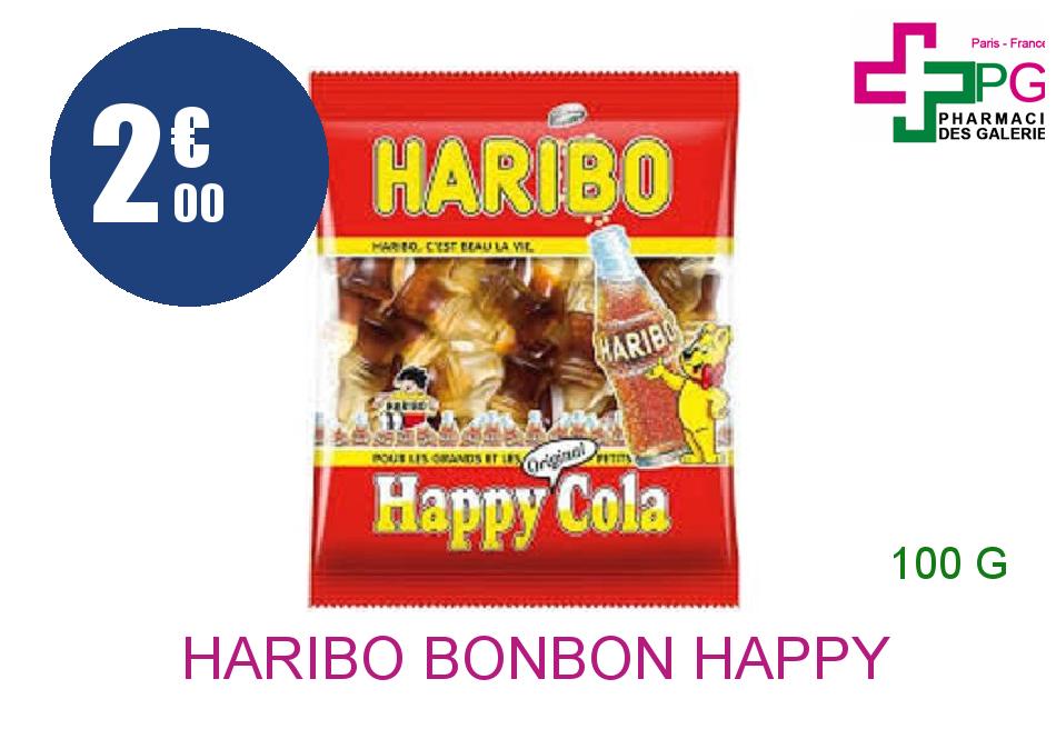HARIBO Bonbon happy cola Sachet de 100g