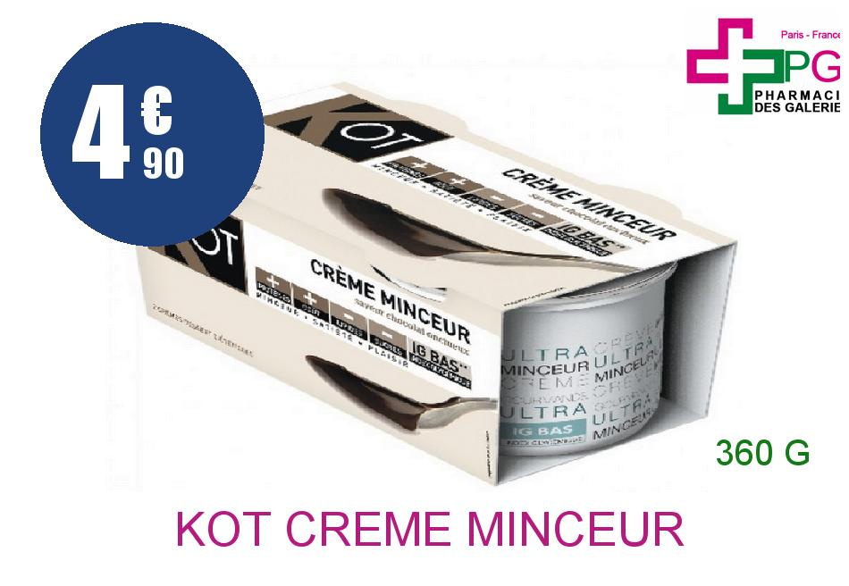 Achetez KOT Crème minceur chocolat 2 Coupelles de 180g