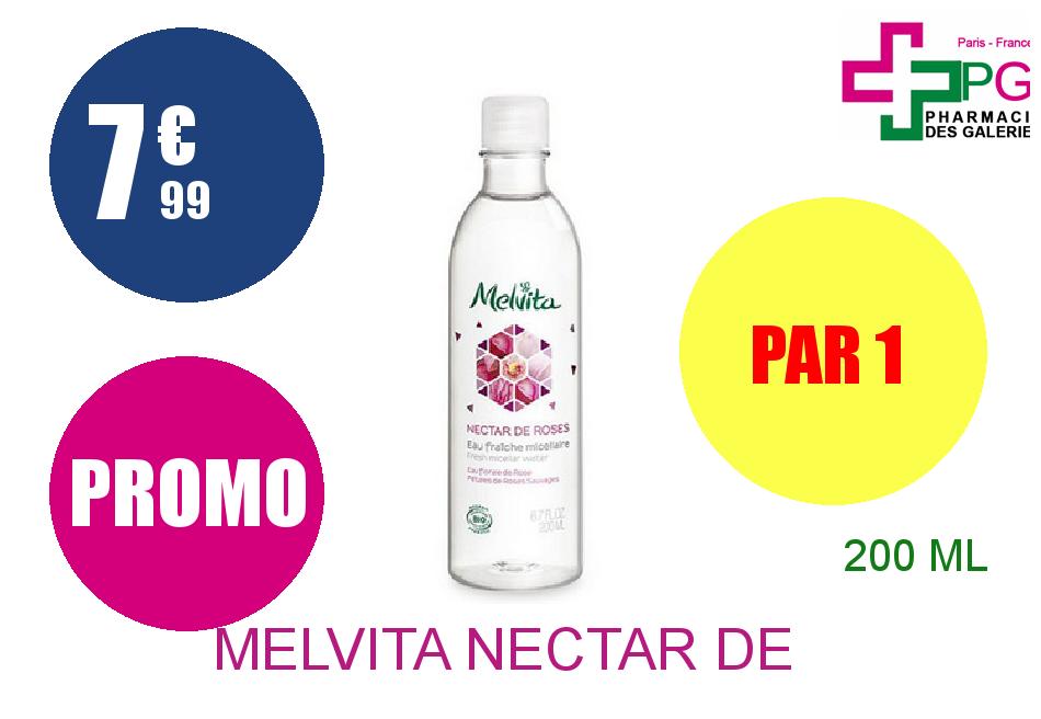MELVITA NECTAR DE ROSES Eau fraîche micellaire Flacon de 200ml