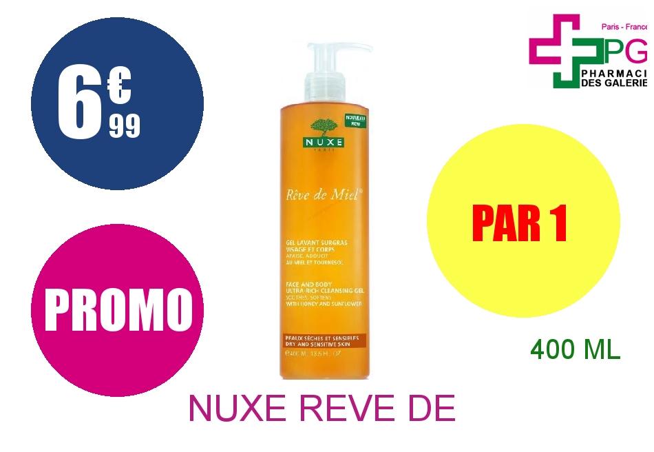 NUXE REVE DE MIEL Gel lavant surgras visage corps Flacon Pompe de 400ml