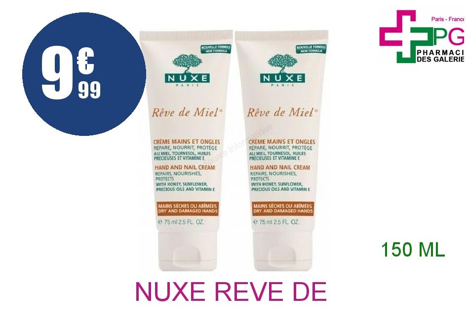 Achetez NUXE REVE DE MIEL Crème mains ongles 2 Tube de 75ml