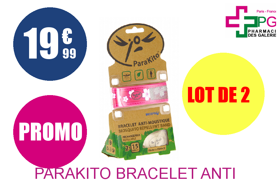 PARAKITO BRACELET ANTI MOUSTI Lot de 2