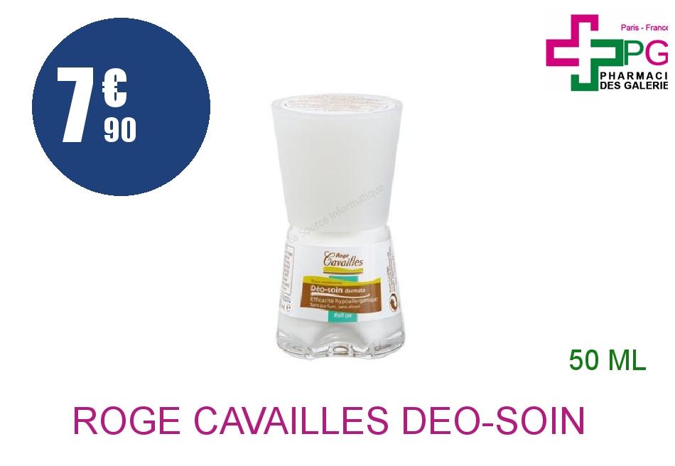 Achetez ROGE CAVAILLES DEO-SOIN Déodorant dermatologique Roll-on de 50ml