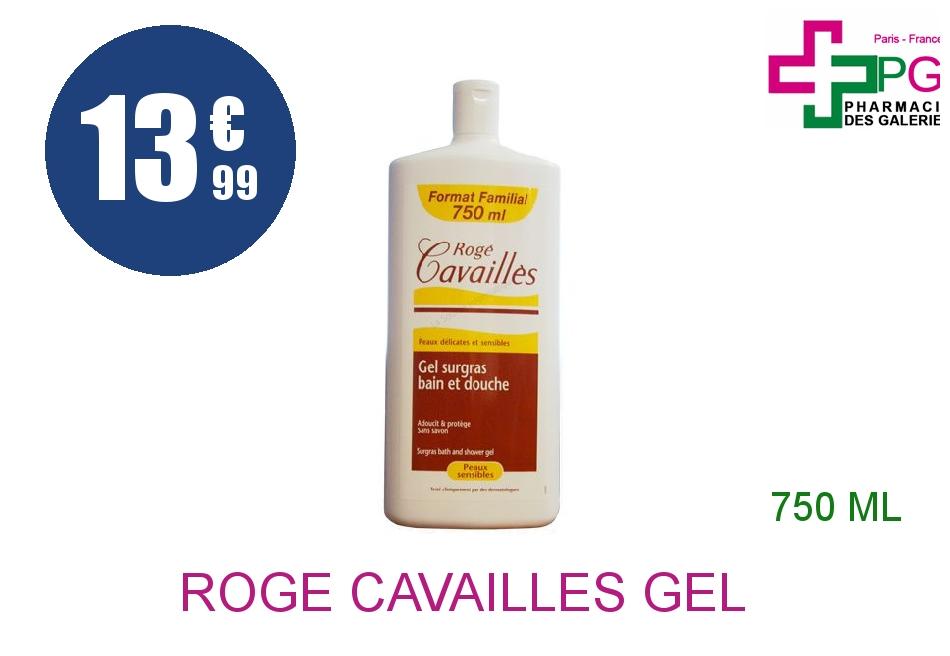 Achetez ROGE CAVAILLES Gel surgras bain douche lait et miel Flacon de 750ml
