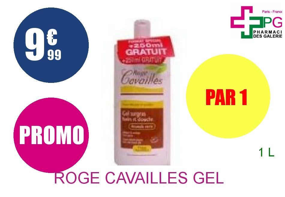 ROGE CAVAILLES Gel surgras bain douche lait et miel Flacon de 1l