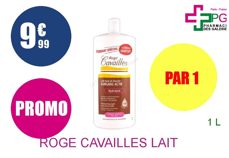 ROGE CAVAILLES Lait bain et douche hydratant Flacon de 1l
