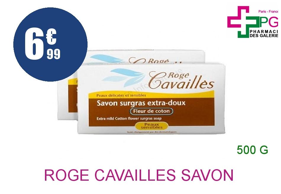 Achetez ROGE CAVAILLES Savon surgras extra doux fleur de coton 2x250g