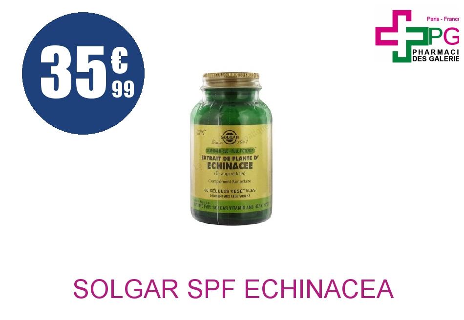 SOLGAR SPF Echinacéa Gélule Pot de 60