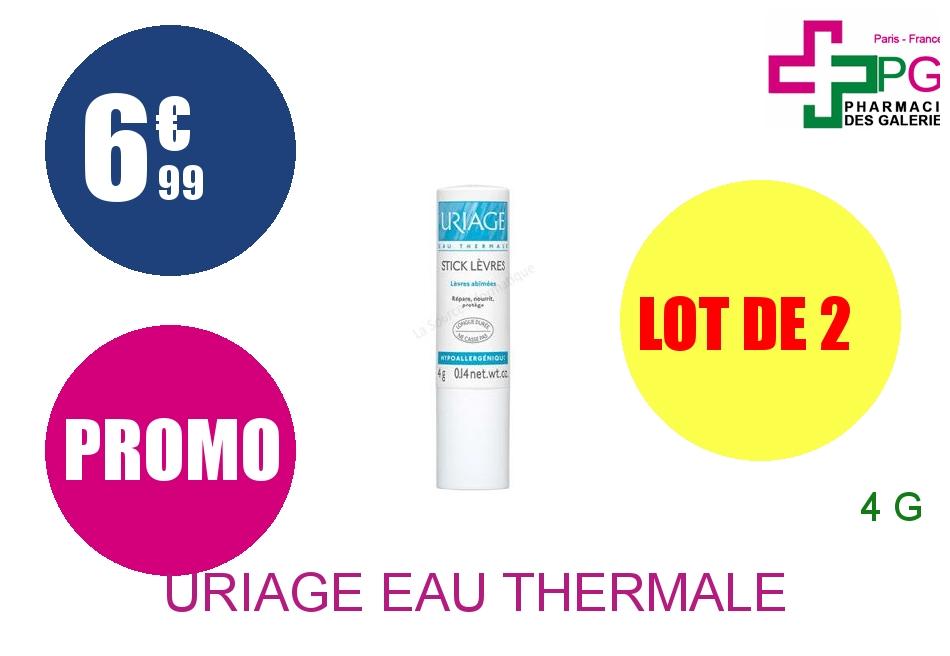 URIAGE EAU THERMALE Stick lèvres hydratant Tube de 4g Lot de 2