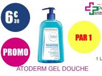 ATODERM Gel douche nettoyant douceur peau sèche Flacon Pompe de 1l