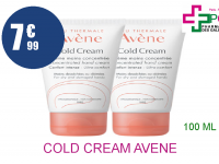 COLD CREAM AVENE Crème mains concentrée 2 Tube de 50ml